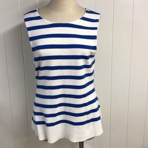 Anthropologie Moth Blue and White Striped Tank